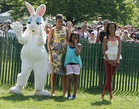オバマ・ファミリー Obama Family イースター イベント 家族参加 ミシェル・オバマ マリア・オバマ ナターシャ・オバマ サーシャ