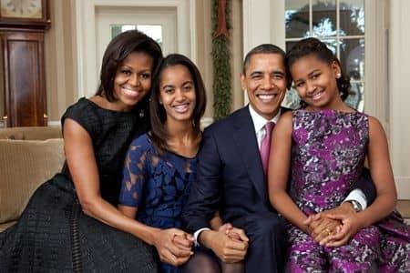 オバマ・ファミリー Obama Family 家族写真 公式 アメリカ大統領