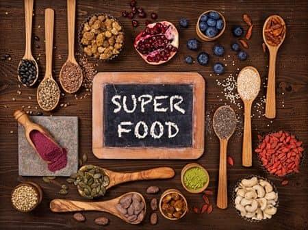 種や豆などのスーパーフード