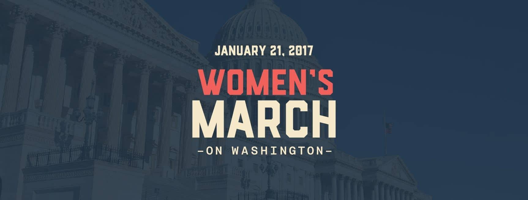 Women's march on Washington ワシントン女性の権利デモ行進