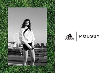 アディダス adidas マウジー Moussy コラボ 新作 おしゃれ