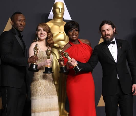 2017年第89回アカデミー賞授賞式 主要部門の受賞者の集合写真