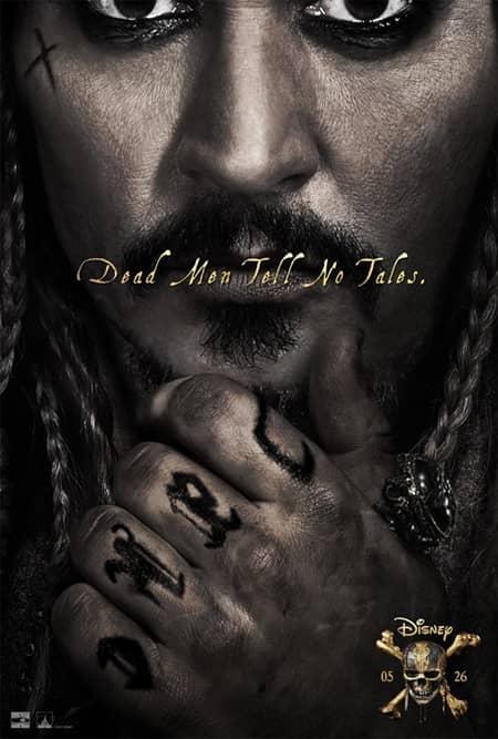 映画『パイレーツ・オブ・カリビアン/最後の海賊』 米版ポスター