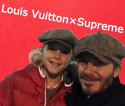 クルス・ベッカム Cruz Beckham ルイ・ヴィトン Louis Vuitton シュプリーム Supreme コラボ 未発表 フーディ パーカ 特別 争奪戦 人気 話題