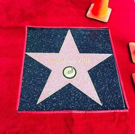 ベハティ・プリンスルー Behati Prinsloo アダム・レヴィーン Adam Levine  ハリウッドの殿堂 ハリウッド名声の歩道 Hollywood Walk of Fame 子供 初お目見え 初公開 ダスティ・ローズ Dusty Rose