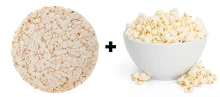 SkinnyPop スキニーポップ ポップコーン・ケーキ Popcorn Cake ライスケーキ+ポップコーン写真