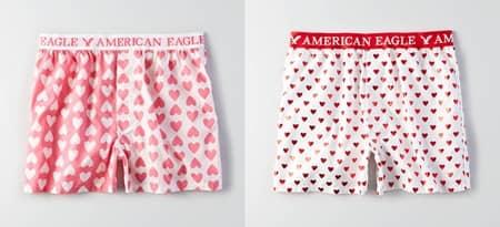 アメリカンイーグル アウトフィッターズ バレンタイン メンズ 下着 America Eagle Outfitters Valentine Mens Underwear Campaign