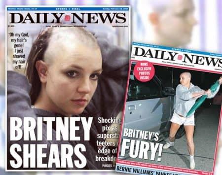 ブリトニー・スピアーズ Britney Spears 丸刈り事件 報道