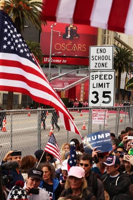 アカデミー賞 オスカー デモ ドナルド・トランプ大統領 支持者 Oscar Academy Awards Demo By Donald Trump Supporters