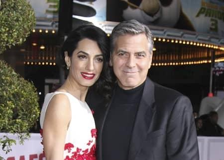 ジョージ・クルーニー アマル・クルーニー 双子 妊娠 George Clooney Amal Clooney Pregnant Twins