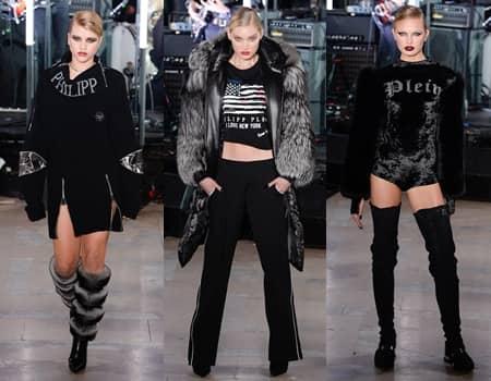 NY ファッションウィーク 2017 秋冬 フィリップ・プレイン Philipp Plein ランウェイ モデル ヴィクトリアズ・シークレット ソフィア・リッチー エルザ・ホスク ロミー・ストリド