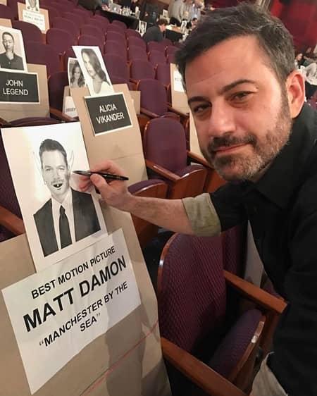 ジミー・キンメル マット・デイモン バトル アカデミー賞 インスタグラム 落書き Jimmy Kimmel Matt Damon Academy Awards Oscar 2017 Battle