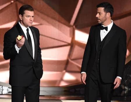 マット・デイモン ジミー・キンメル バトル エミー賞 Jimmy Kinmmel Matt Damon Emmy Awards Battle