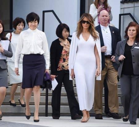 メラニア・トランプ Melania Trump 安倍昭恵 交流 カルヴァン・クライン Calvin Klein 衣装