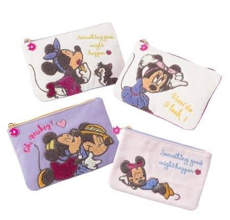 ミニーマウス メイクポーチ PLAZA MINiPLA Minnie Mouse Makeup Bag