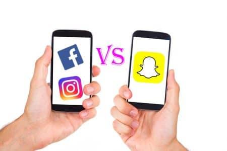 フェイスブック Facebook スナップチャット Snapchat インスタグラム Instagram SNS
