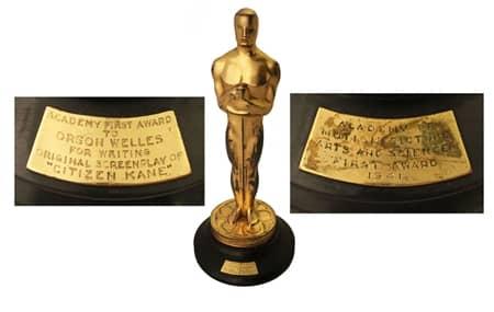 アカデミー賞 オスカー像 市民ケーン オークション Academy Awards Oscar Citizen Kane Auction