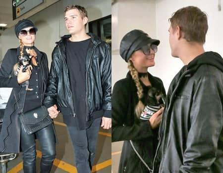 パリス・ヒルトン クリス・ジルカ Paris Hilton Chris Zylka 空港 ロサンゼルス