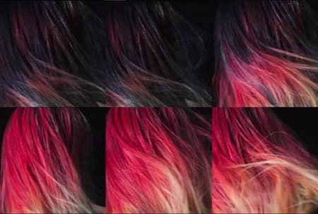 色が変わるヘアカラー 温度 変化