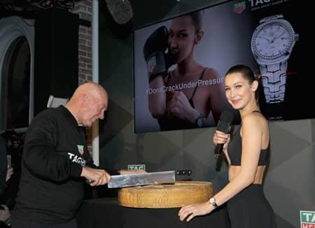 タグ・ホイヤー Tag Heuer ベラ・ハディッド Bella Hadid アンバサダー 就任 リンク レディ チーズカット 恒例 NYFW ファッションウィーク NY