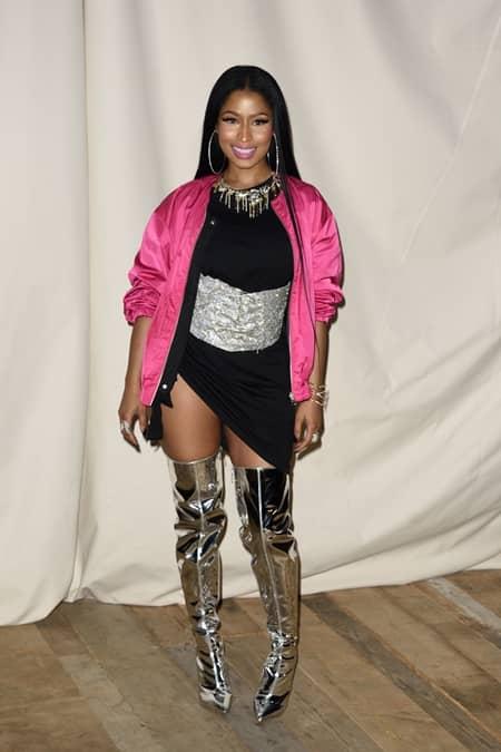 ニッキー・ミナージュ Nicki Minaj H&M Studio  パリファッションウィーク ストリート スナップ セレブ フロントロウ お手本 海外 エッジー