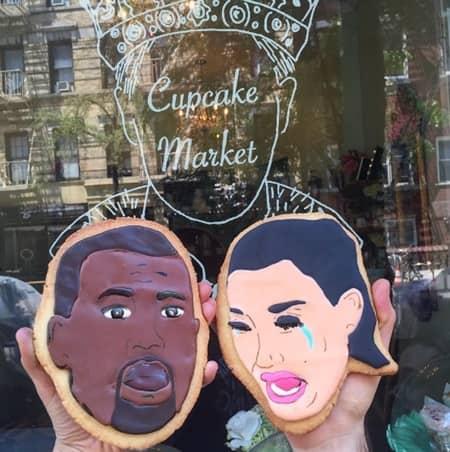 キム・カーダシアン Kim Kardashian カニエ・ウェスト Kanye West セレブ 顔クッキー NY  The Cupcake Market カップケーキマーケット サラ・シルバーマン
