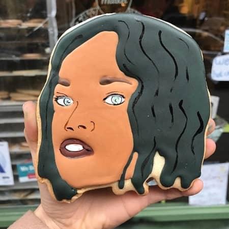 リアーナ Rihanna セレブ 顔クッキー NY  The Cupcake Market カップケーキマーケット サラ・シルバーマン