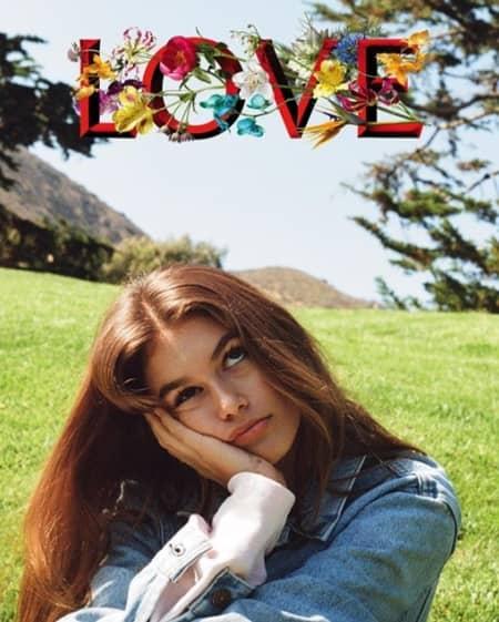 ケンダル・ジェンナー Kendall Jenner カメラ発明記念日 3月19日 Loveマガジン フォトグラファー カメラマン モデル 撮影 カイア・ガーバー