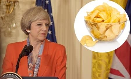 テリーザ・メイ イギリス首相 レント中にポテトチップスを断つ