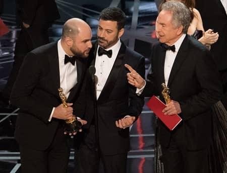 アカデミー賞 2017 ジミー・キンメル ジョーダン・ホロウィッツ ウォーレン・ビーティ Academy Awards Jimmy Kimmel Warren Beaty