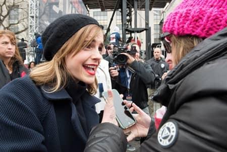 エマ・ワトソン 女性のマーチ ファン Emma Watson Women's March
