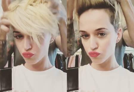 ケイティ・ペリー イメチェン 髪型 ピクシーカット ブロンド Katy Perry Hair Cut Pixie Blonde