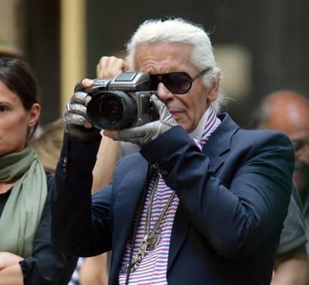 カール・ラガーフェルド Karl Lagerfeld  カメラ発明記念日 3月19日 フォトグラファー カメラマン モデル 撮影