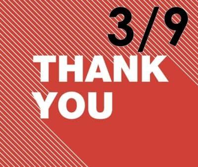 3月9日ありがとうの日 Thank You
