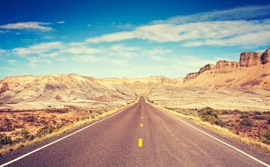 アメリカ ユタ州 道路